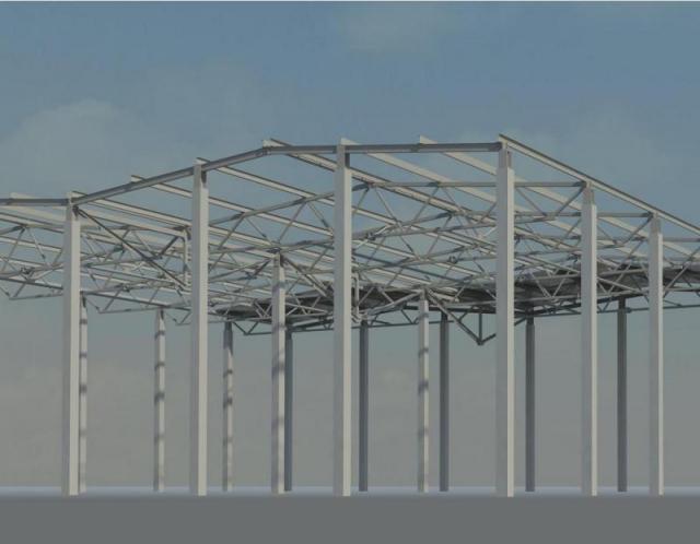 Набросок каркаса в Revit Structure 2009